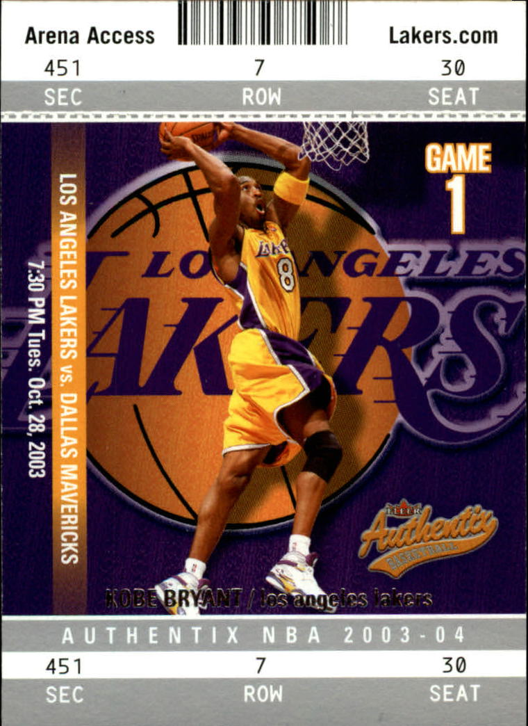 2003-04 Fleer Authentix #25 Kobe Bryant