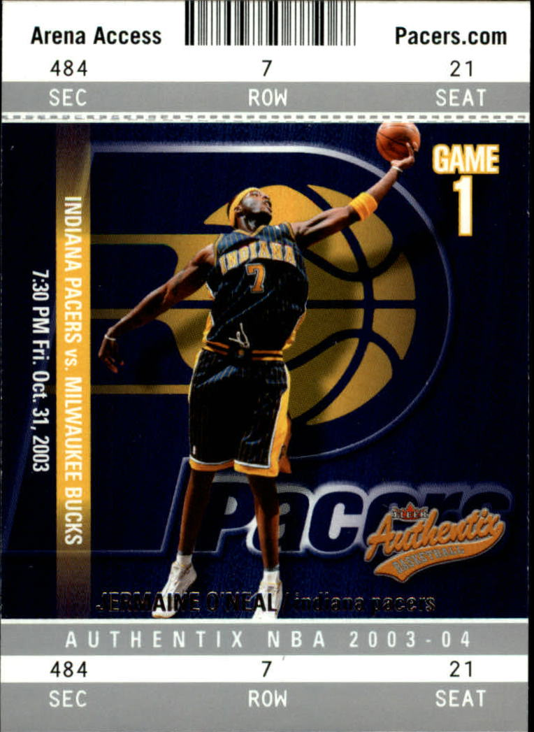 2003-04 Fleer Authentix #71 Jermaine O'Neal