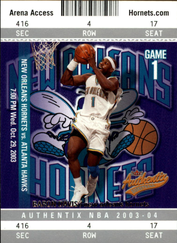 2003-04 Fleer Authentix #73 Baron Davis