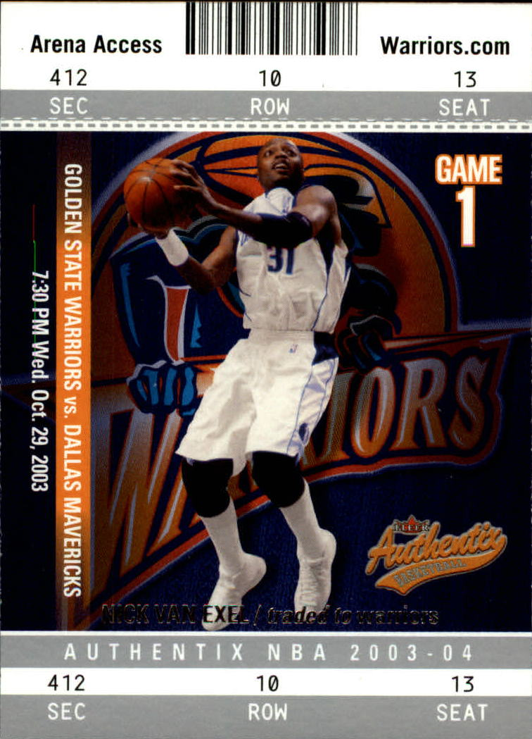 2003-04 Fleer Authentix #76 Nick Van Exel
