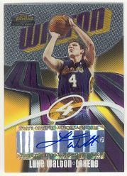 2003-04 Finest #150 Luke Walton AU RC