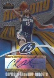 2003-04 Finest #163 Carmelo Anthony AU RC