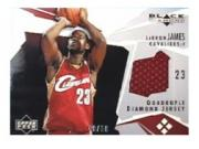 2003-04 Black Diamond Jerseys Quadruple Diamond #BD4LJ LeBron James