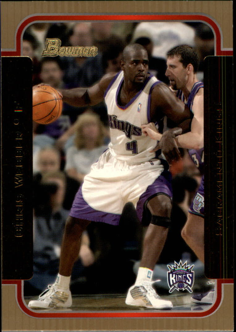 2003-04 Bowman Gold #28 Chris Webber