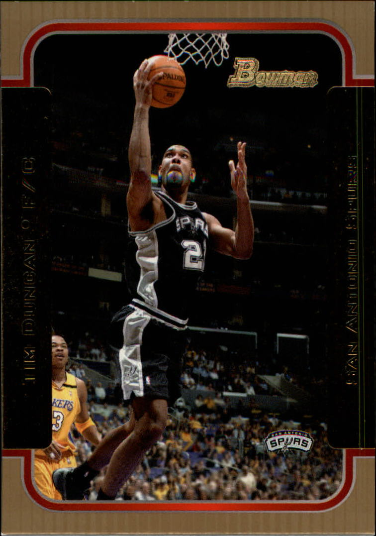 2003-04 Bowman Gold #40 Tim Duncan