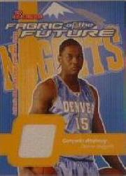 2003-04 Bowman Fabric of the Future #CA Carmelo Anthony