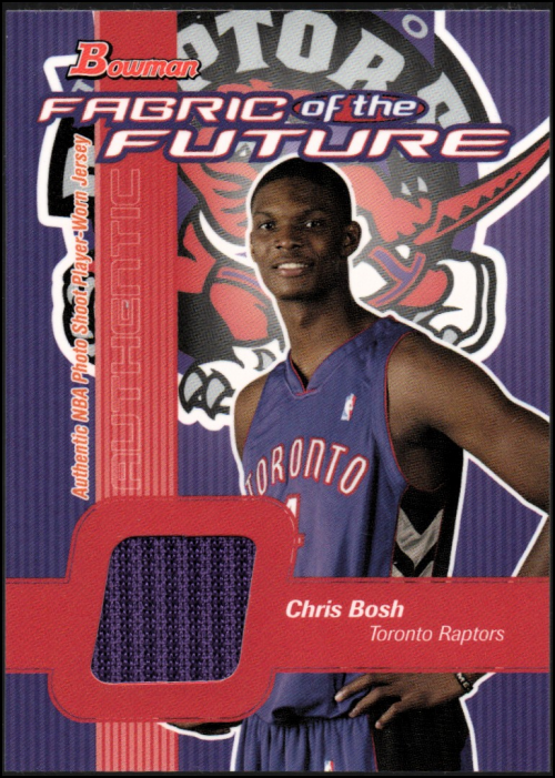 2003-04 Bowman Fabric of the Future #CB Chris Bosh