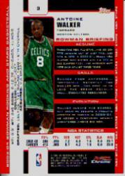 2003-04 Bowman Chrome #3 Antoine Walker back image