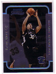 2003-04 Bowman Chrome #120 David West RC