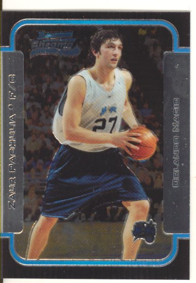 2003-04 Bowman Chrome #127 Zaur Pachulia RC