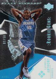 2003-04 Black Diamond Rainbow #186 Carmelo Anthony