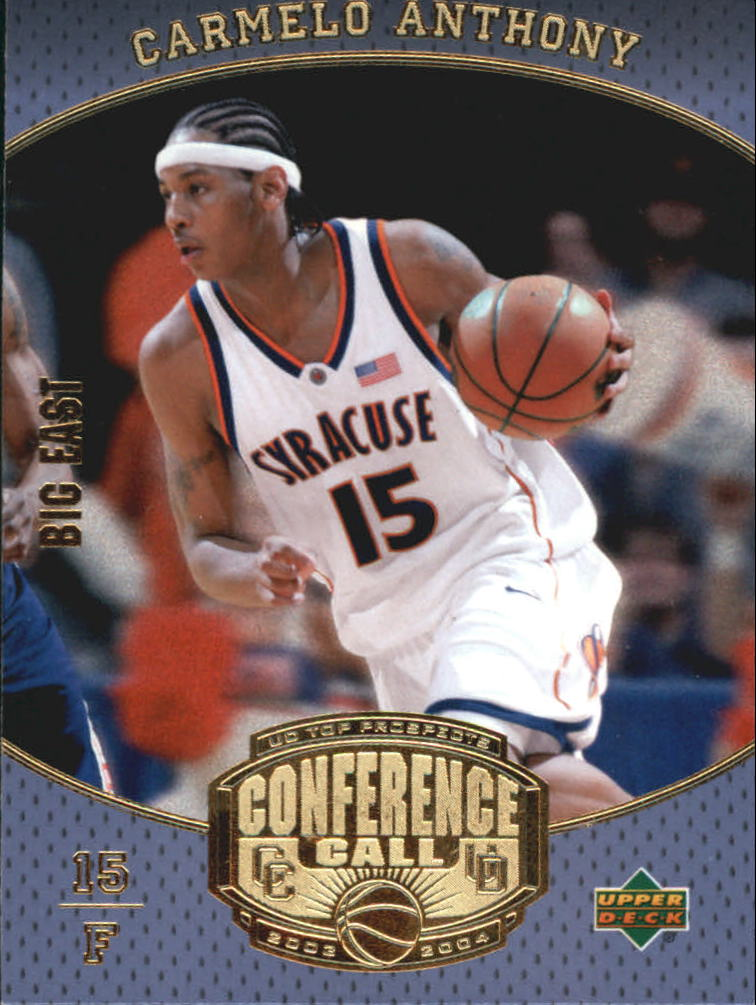2003-04 UD Top Prospects Conference Call #CC1 Carmelo Anthony