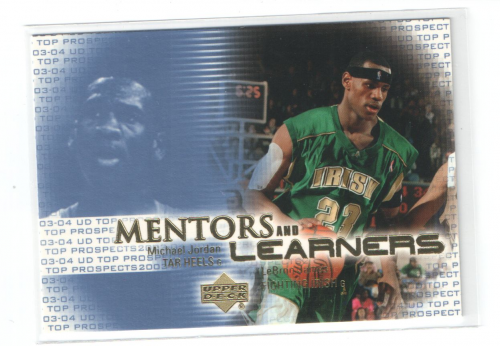 2003-04 UD Top Prospects Mentors and Learners #ML1 Michael Jordan/LeBron James