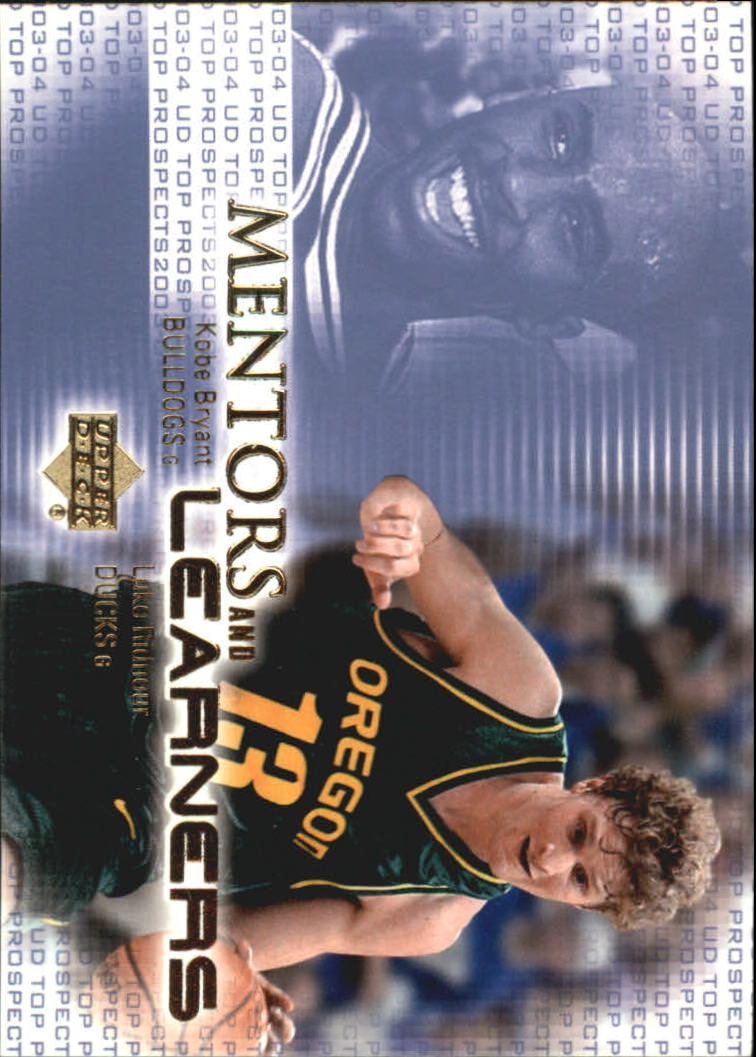 2003-04 UD Top Prospects Mentors and Learners #ML2 Kobe Bryant/Luke Ridnour