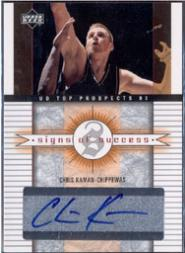 2003-04 UD Top Prospects Signs of Success #SSCK Chris Kaman