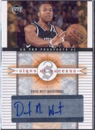 2003-04 UD Top Prospects Signs of Success #SSWE David West