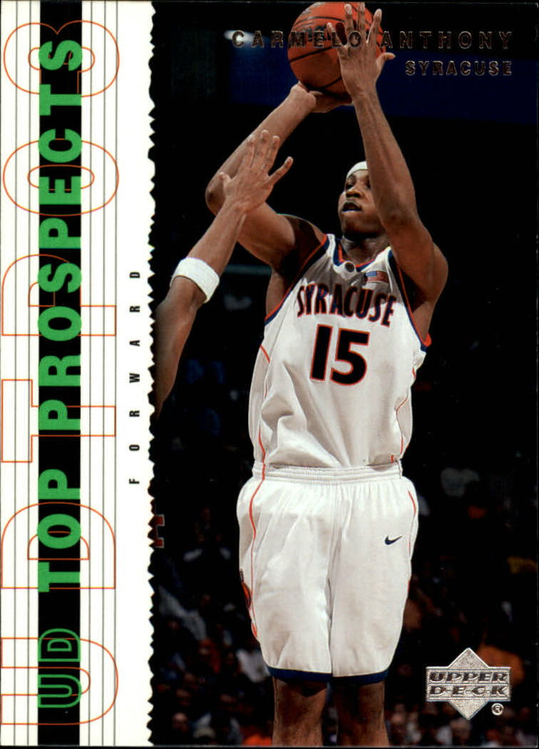 2003-04 UD Top Prospects #5 Carmelo Anthony front image