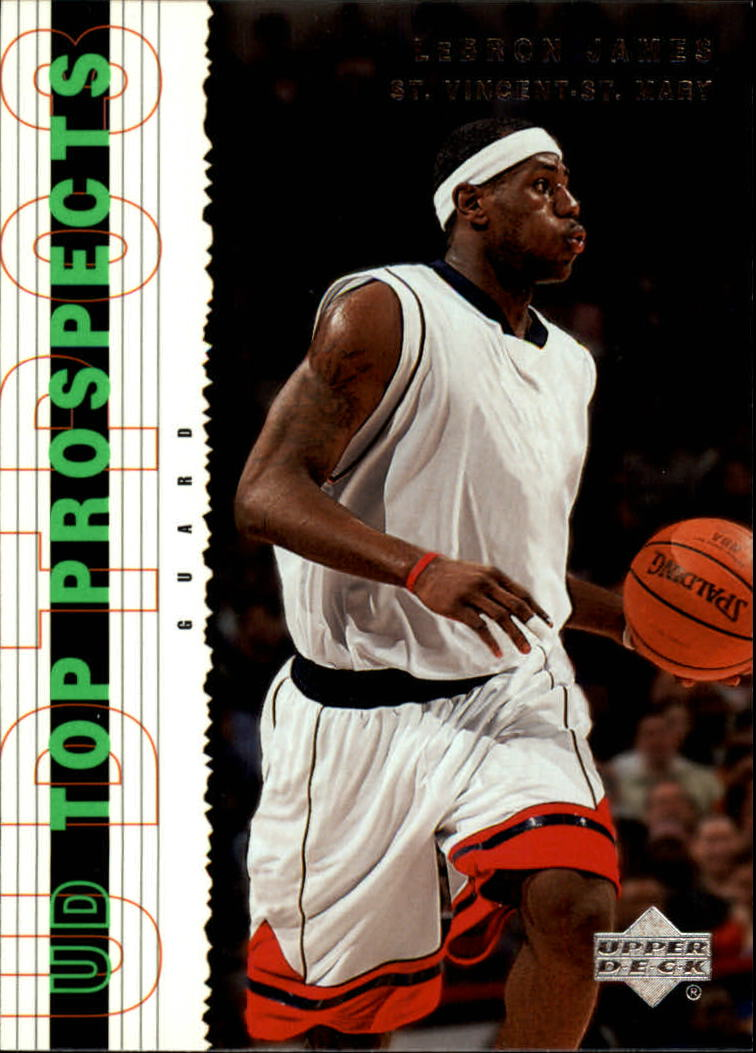 2003-04 UD Top Prospects #55 LeBron James front image