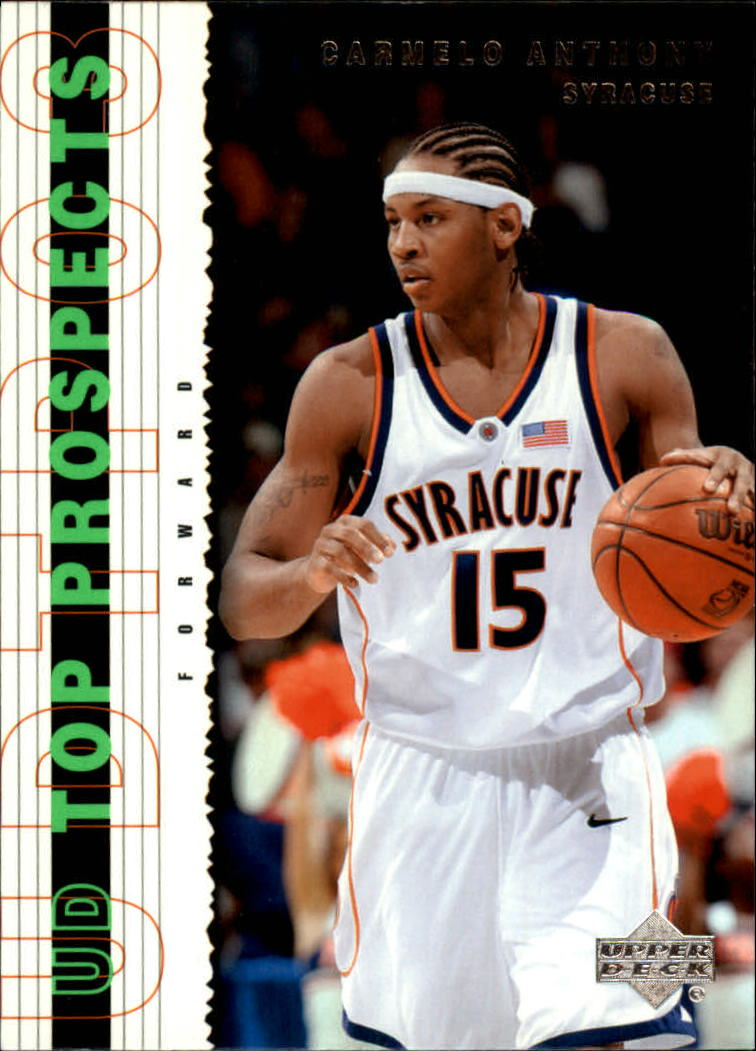 2003-04 UD Top Prospects #57 Carmelo Anthony front image