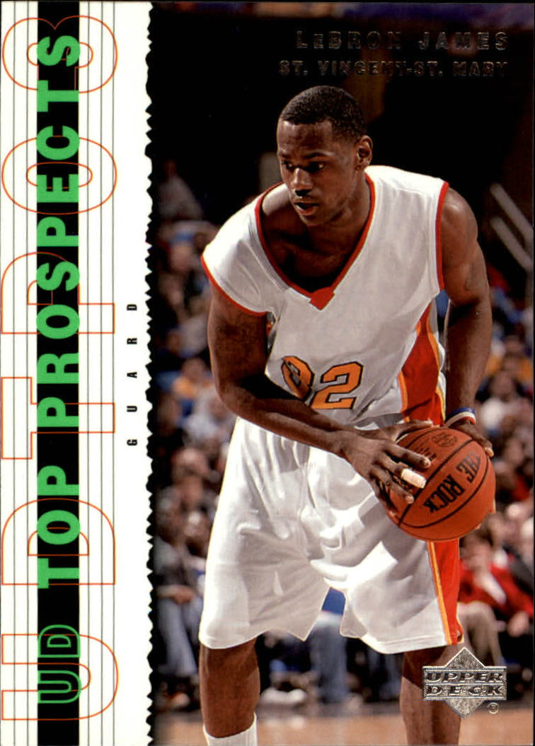 2003-04 UD Top Prospects #60 LeBron James front image