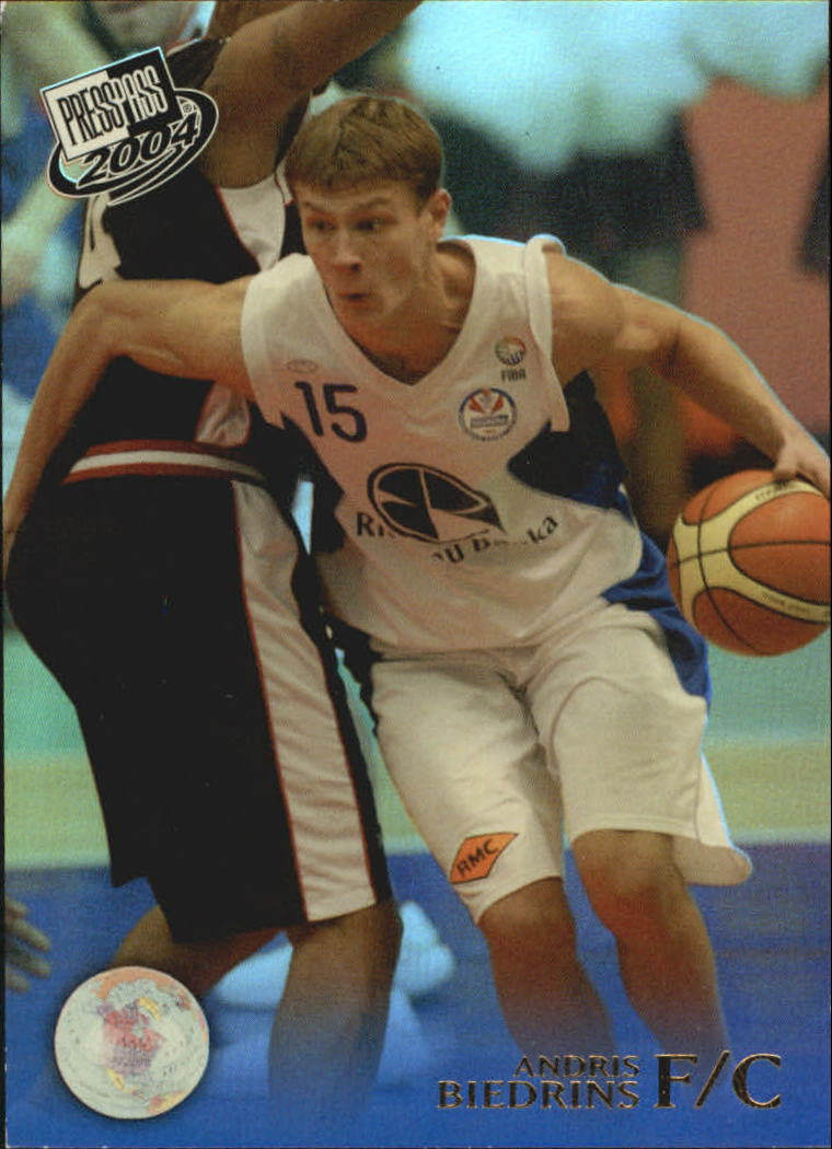 2004 Press Pass Reflectors #3 Andris Biedrins