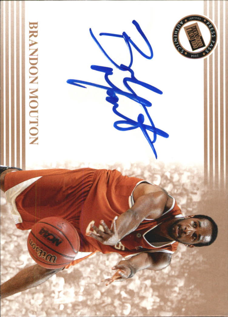 2004 Press Pass Autographs #22 Brandon Mouton