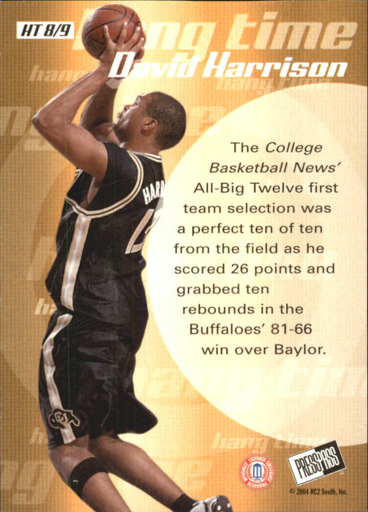 2004 Press Pass Hang Time #8 David Harrison back image