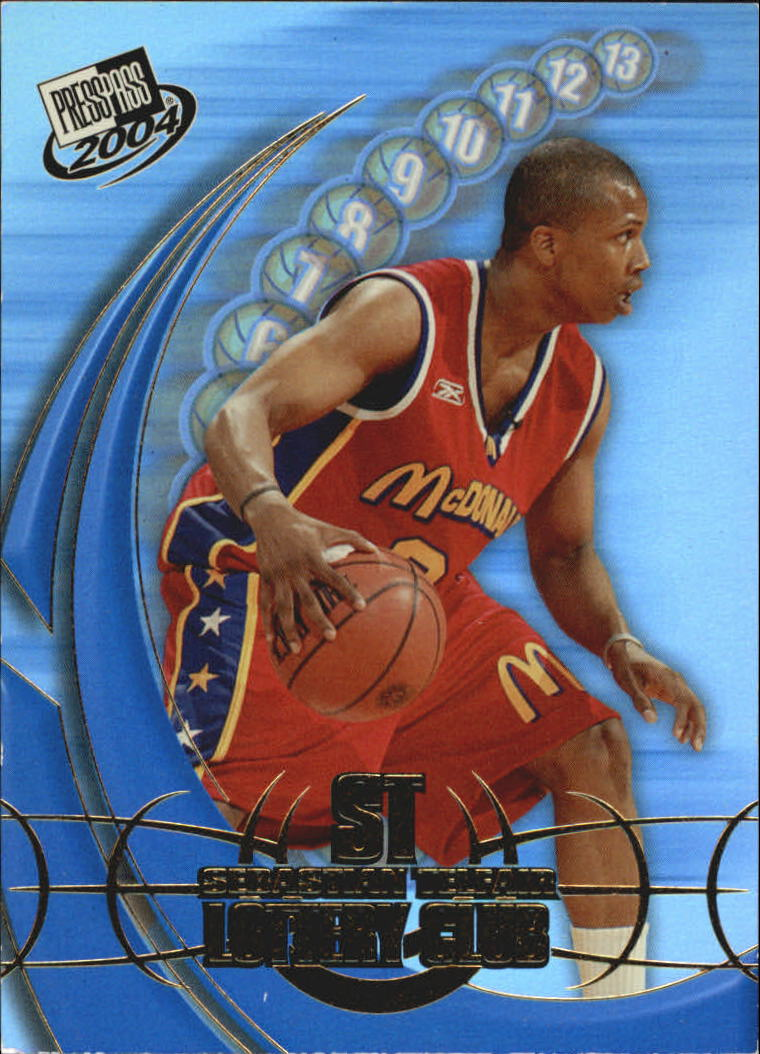 2004 Press Pass Lottery Club #1 Sebastian Telfair