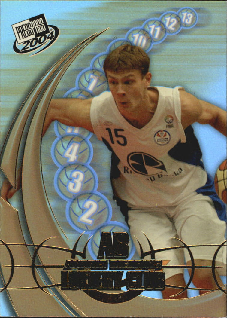 2004 Press Pass Lottery Club #7 Andris Biedrins