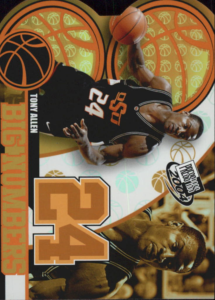 2004 Press Pass Big Numbers #5 Tony Allen