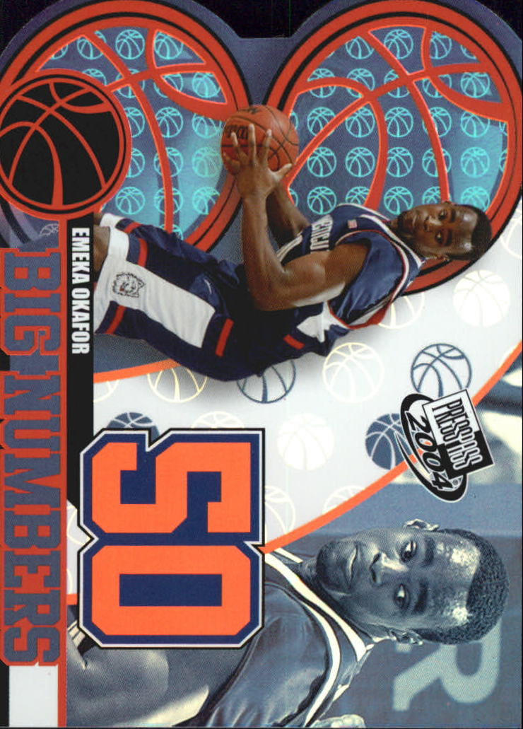 2004 Press Pass Big Numbers #17 Emeka Okafor