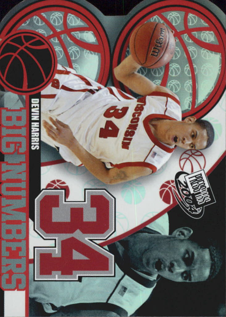 2004 Press Pass Big Numbers #18 Devin Harris