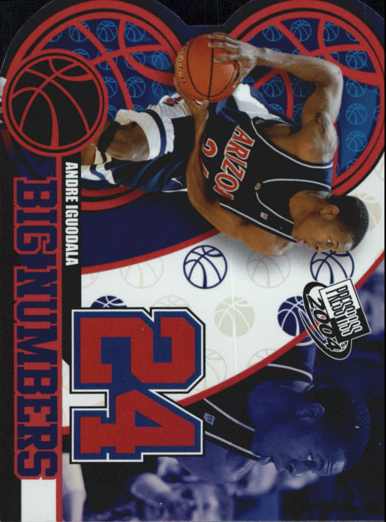 2004 Press Pass Big Numbers #23 Andre Iguodala