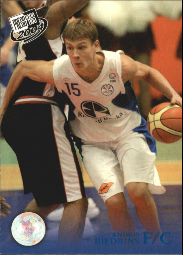 2004 Press Pass Blue #3 Andris Biedrins