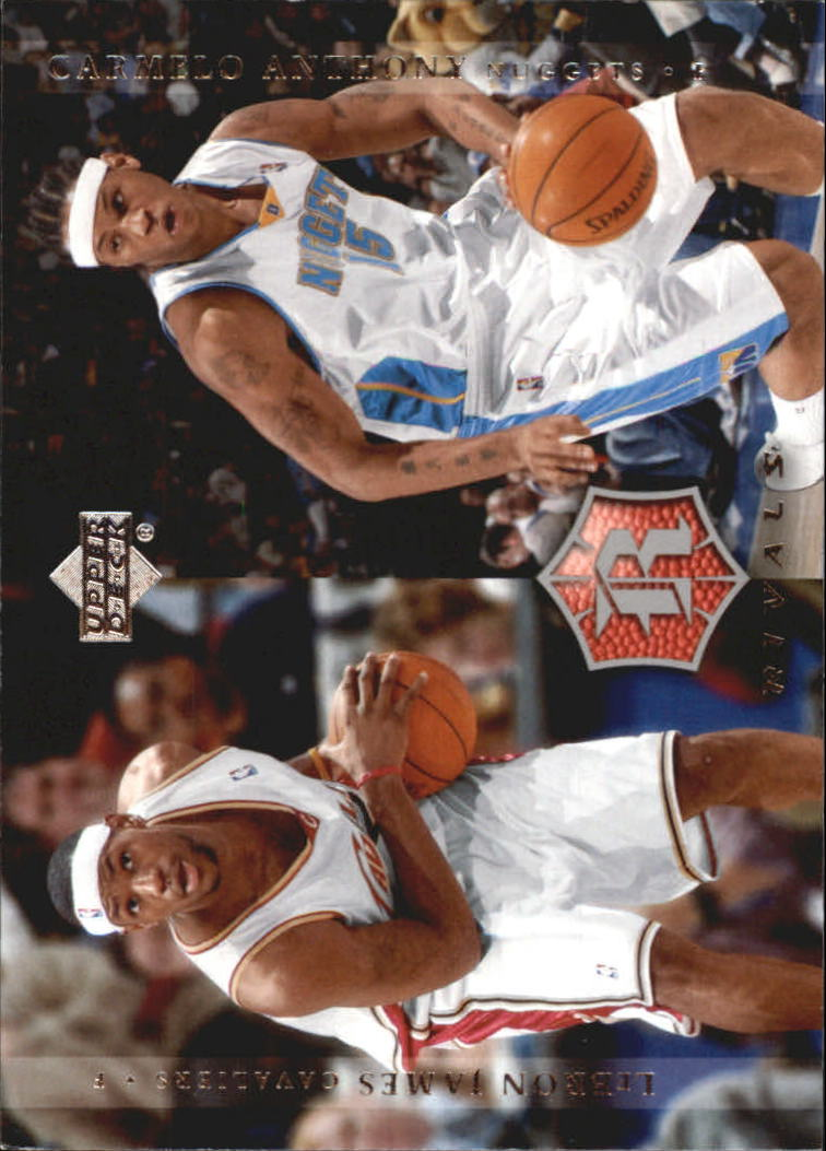 2004-05 Upper Deck Rivals Box Set #29 Carmelo Anthony/LeBron James