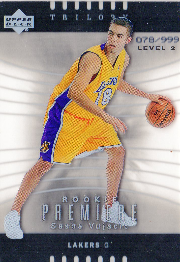 2004-05 Upper Deck Trilogy #117 Sasha Vujacic RC