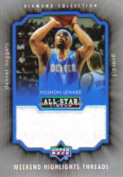 2004-05 Upper Deck All-Star Lineup Weekend Highlights Threads #VL Voshon Lenard