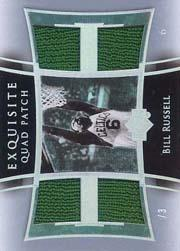 2004-05 Exquisite Collection Patches Quad #BR Bill Russell