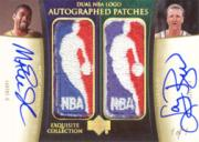 2004-05 Exquisite Collection Dual NBA Logo Autographs #MALB Magic Johnson/Larry Bird