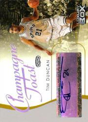 2004-05 Topps Luxury Box Champagne Toast Autographs #TD Tim Duncan
