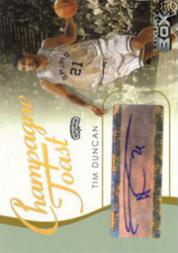 2004-05 Topps Luxury Box Champagne Toast Autographs 30 #TD Tim Duncan