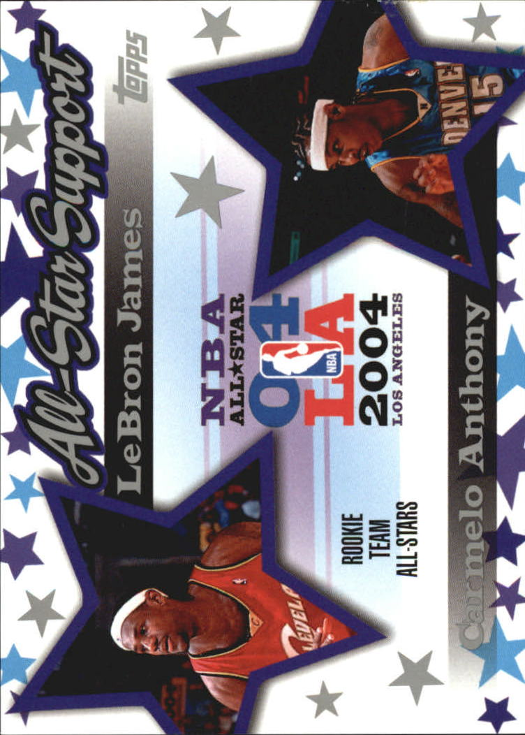 2004-05 Topps All-Star Support #ASJA LeBron James/Carmelo Anthony