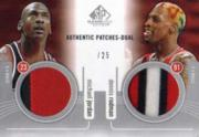 2004-05 SP Game Used Authentic Patches Dual #JR Michael Jordan/Dennis Rodman