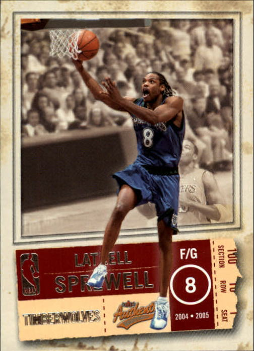 2004-05 Fleer Authentix #31 Latrell Sprewell