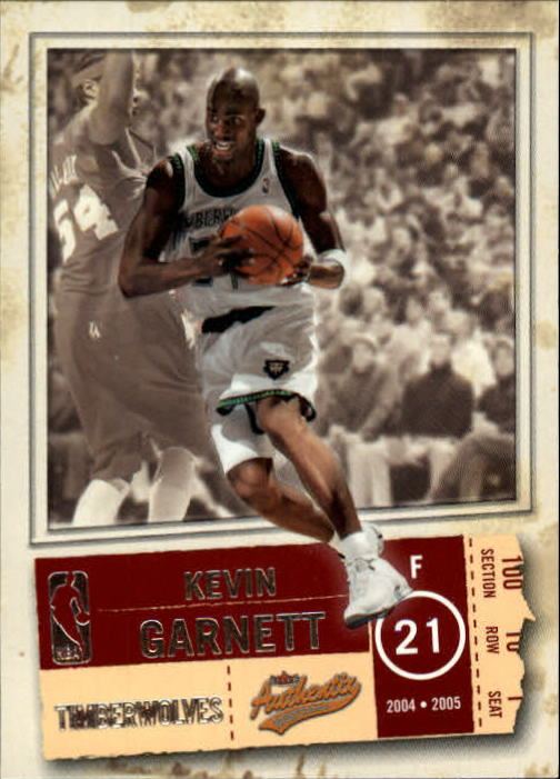 2004-05 Fleer Authentix #34 Kevin Garnett