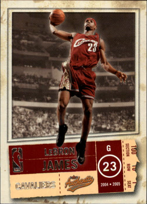 2004-05 Fleer Authentix #49 LeBron James