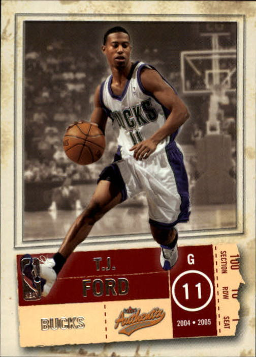 2004-05 Fleer Authentix #51 T.J. Ford
