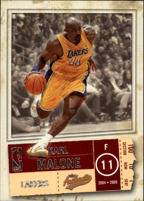 2004-05 Fleer Authentix #84 Karl Malone