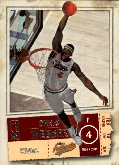 2004-05 Fleer Authentix #94 Chris Webber