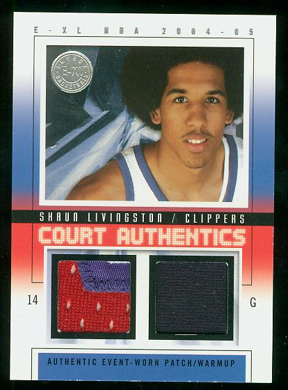 2004-05 E-XL Court Authentics Patches Dual #SL Shaun Livingston
